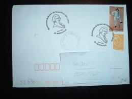 LETTRE TP MOZART 0,53E + MARIANNE DE LAMOUCHE 0,01E OBL. 5 Fev. 2007 20 MOROSAGLIA (20 CORSE) PASCAL PAOLI - Bolli Commemorativi