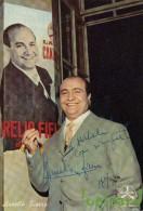 CANTANTE AURELIO FIERRO SU DISCHI DURIUM AUTOGRAFO 1958 - Autografi
