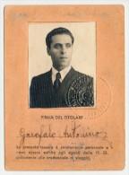 TESSERA FASCISTA DELLE FF.SS. -  CONI FED. ITALIANA TENNIS - GENERALE GIORGIO VACCARO 1939 - Documenti Storici