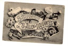 Cp , 44 , Souvenir De SAINT JULIEN DE VOUVANTES , Voyagée 1912 - France