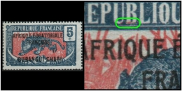 Ubangui - French Colony (Panther) 5c. Printing Error: An Additional Green Mark Found In The Scene (Mint)