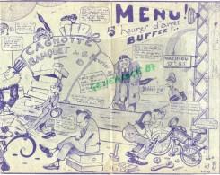 87 - LIMOGES - MENU 6-2-1949- EN SOUVENIR DE RECLASSES ET DECLASSES- DECES DE MME CAGNOTTE BUREAU DU TRAFIC - Menus