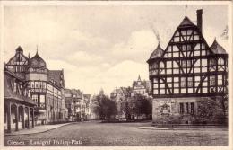 Alte AK  GIESSEN / H. - Landgraf Philipp Platz - 1944 - Giessen