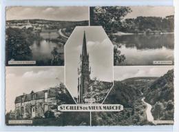 7492. SAINT-GILLES-du-VIEUX-MARCHE - Carte 5 Vues - Auberge De La Jeunesse - Etang Et Vallée De Poulancre - Saint-Gilles-Vieux-Marché