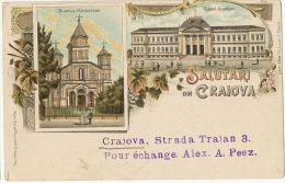 Salutari Din Craiova PIonniere Litho  Rosenblatt Frankfurt Editor Libror  Filip Lazar 1900 - Roumanie