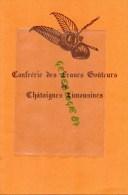 87 - AUREIL- MENU FRANCS GOUTEURS CHATAIGNES-  AUBERGE DU BONHEUR RTE EYMOUTIERS-14-11-1986 - Menus