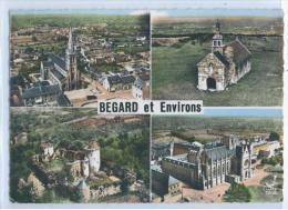 CARTE 4 VUES Sur BEGARD Et ENVIRONS - Begard: Eglise, Asile Du Bon Sauveur - Pedernec: Chapelle ..... - Frankreich