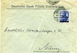 C3 Sarre Saargebiet Lettre Saarbrucken 3 - 1920-35 Sociedad De Naciones
