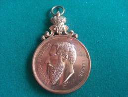Lokeren, Algemeene Katholieke Strijdersbond, Vlaggefeest 26/5/1895 (H.Ft), 51 Gram (medailles0012) - Belgien