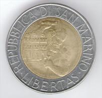 SAN MARINO 500 LIRE 1994 BIMETALLICA - San Marino