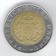 SAN MARINO 500 LIRE 1987 BIMETALLICA - San Marino
