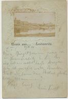 Gruss Aus Leitmeritz Embossed Real Photo 1901 - Tschechische Republik