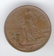 ITALIA 1 CENT 1914 VITTORIO EMANUELE III - 1861-1946 : Regno