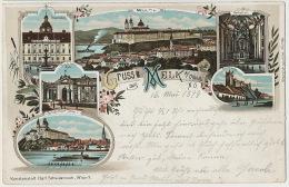 Gruss Aus Melk  P. Used 1899 Edit  Litho Karl Schwidernoch - Melk