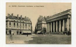 CP , 44 , NANTES , Place Graslin, Rue Racine Et Le Grand Théâtre - Nantes