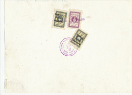 LOBBY CARD, FILM, ERROL FLYNN -  1940 Croatia NDH Court Document With 50 Ban + 2 Kn  + 50 Para Revenue Stamps - Kroatië