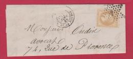 LETTRE POUR PARIS  //  28 JANV 1868  //  CACHET ETOILE N 1 - Postmark Collection (Covers)