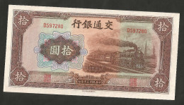 [NC] CHINA - BANK Of COMMUNICATIONS - 10 YUAN (1941) - Cina