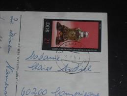 LETTTRE ALLEMAGNE DEUTSCHLAND GERMANY DDR RDA AVEC YT 1739- PENDULE - CPM FLORE FLEUR ROSE - - Briefe U. Dokumente