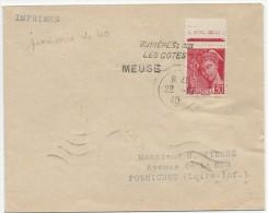 Meuse, Oblitération Provisoire Buxieres Les Cotes En 1940 RARE - 1921-1960: Modern Period