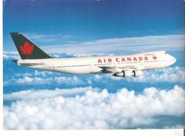 "Air Canada Boeing 747 - 100  7"" X 5""  17.5 Cm X 12.5 Cm - 1946-....: Modern Era"