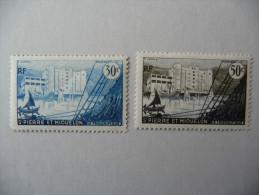 """SPM  1955/56    """"Le Frigorique De Saint Pierre""""   N° Y&T  348 Et 349    2v.   Neuf - Unused Stamps"""