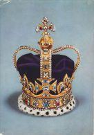 UK St Edward's Crown  Postcard - Familles Royales
