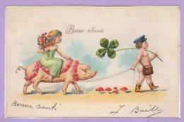 ANIMAUX --  COCHONS --  Carte Gaufrée - Varkens