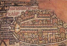 Madaba Mosaic, Jordan Postcard Used Posted To UK - Jordan