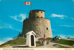 Martello Tower, St John, New Brunswick, Canada Postcard Used Posted To UK 1973 Stamp - St. John