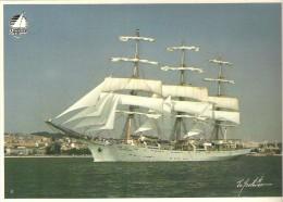 """Quebec 87 Dar Mlodziezy (Pologne / Poland) Trois-mats Carre En Acier Lance A Gdansk En1981 6.6"""" X 5""""   17 Cm X 12.5 Cm - Segelboote"""