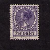 Timbre Oblitéré Pays-Bas, Reine Wilhelmine -type « Veth », 7 1/2 C., 1927 - 1891-1948 (Wilhelmine)