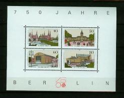 Deutschland Berlin 1987,4V In Block,building,gebouw,gebäude,bâtiment,edificio,,MNH/Po Stfris,(E4246) - Monumenten
