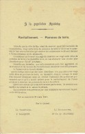 Guerre 14-18 -Affichette -SPA le 31/3/1917 -Avis � la population spadoise concernant le ravitaillemen en pommes de terre