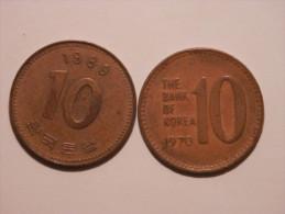10 Won 1970,89 - Korea, South