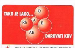 CROAZIA (CROATIA) - CHIP  - HPT 1997  TAKO JE LAKO....DAROVATI KRV     - USED  -  RIF. 6702 - Croazia