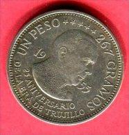 SAINT DOMINGUE 1 PESO ANNIVERSAIRE 1955 TTB+ 42 - Dominicana