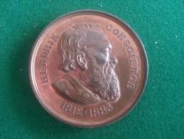 Hendrik Conscience, Oprichting Praalgraf 19/9/1886 (M. Vermeiren), 72 Gram (medailles0028) - Sonstige