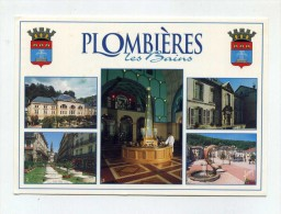 CP , 88 , PLOMBIERES-les-BAINS , Thermes Napoléon, Place Bain Romain, Place De L'Eglise Et Bains Stanislas - Plombieres Les Bains