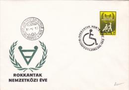 HANDICAPS, INTERNATIONAL YEAR, COVER FDC, 1981, HUNGARY - Handicap