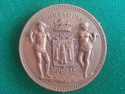 Croix Rouge De Belgique, Comité D'Anvers, Féte De Charité 24/12/1912 (Baetes), 71 Gram (medailles0034) - België