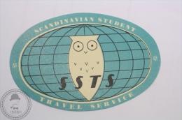 Vintage Label Scandinavian Student - Travel Service- Original Luggage Label - Sticker - Transporte