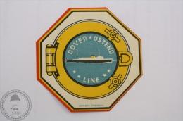 Dover Osten Line George Frederic Label- Original Boat Luggage Label - Sticker - Barcos