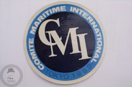 Rare Comite Maritime International Tokyo 1969 - Original Boat Luggage Label - Sticker - Barcos
