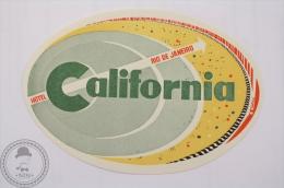Hotel California, Rio De Janeiro - Brasil - Original Hotel Luggage Label - Sticker - Hotel Labels