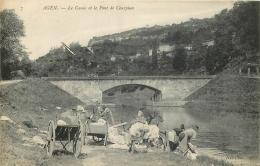 47) Agen.- Le Canal Et Le Pont De Courpian - (belle Animation - Laveuses) - Agen