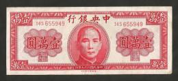 [NC] CHINA - THE CENTRAL BANK Of CHINA - 10000 YUAN (1947) - Cina