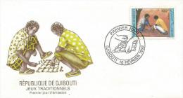 Djibouti 1992 Traditional Games FDC Cover - Djibouti (1977-...)