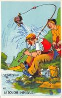 ¤¤  -  45  -  Pêche à La Ligne  - Illustrateur  -  La Douche Imprévue !  -  Pêcheur  -  ¤¤ - Pesca