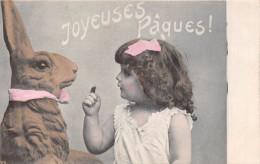 ¤¤  -  Carte Fantaisie  -  Joyeuse Pâques !  -  Lapin , Petite Fille  -  ¤¤ - Ostern